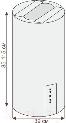 Вытяжка коробчатая Ciarko ORW (черное стекло)
