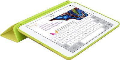 Чехол для планшета Apple iPad Air Smart Case MF049ZM/A (Yellow) - в раскрытом виде