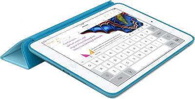 Чехол для планшета Apple iPad Air Smart Case MF050ZM/A (Blue) - в раскрытом виде