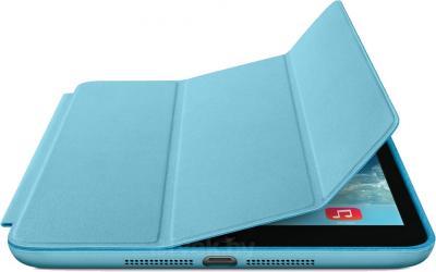 Чехол для планшета Apple iPad Air Smart Case MF050ZM/A (Blue) - с черным айпадом
