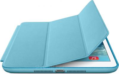 Чехол для планшета Apple iPad Air Smart Case MF050ZM/A (Blue) - с белым айпадом