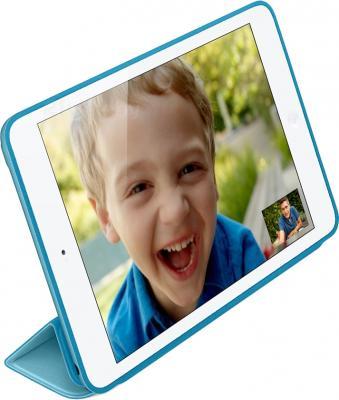 Чехол для планшета Apple iPad Air Smart Case MF050ZM/A (Blue) - вполоборота