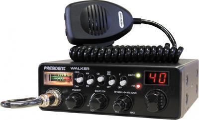 Радиостанция с антенной President Walker ASC (+ WA 27) - общий вид