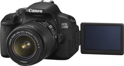 Зеркальный фотоаппарат Canon EOS 650D Triple Kit EFS18-55mm + EFS75-300mm + EF50mm - поворотный экран