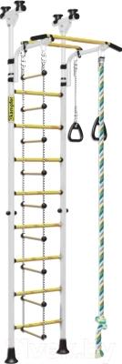 Детский спортивный комплекс Kampfer Strong Kid New Ceiling (белый-золотой)