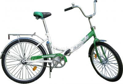 Велосипед Eurobike BooMer W24 (24, зелено-белый) - общий вид