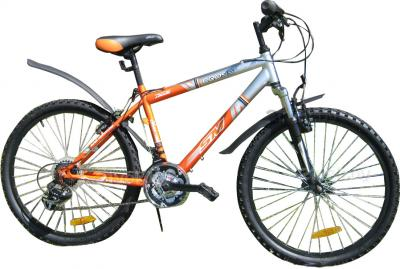 Велосипед Eurobike Cross (24, Orange-Silver) - общий вид