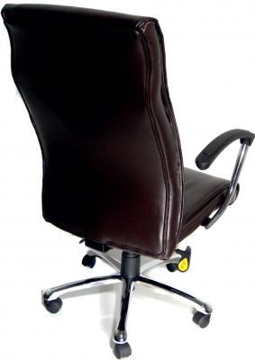 Кресло офисное Деловая обстановка Вип хром STG (Brown) - вид сзади