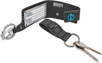 Сумка для ноутбука Piquadro Link (CA1044LK/N) - адресная карточка и кольцо для ключей