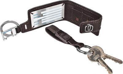 Сумка для ноутбука Piquadro Jazz (CA1045W17/M) - адресная карточка и кольцо для ключей