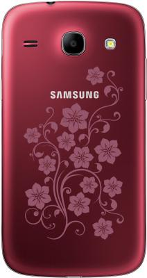 Смартфон Samsung I8262 Galaxy Core La Fleur (Red) - задняя панель