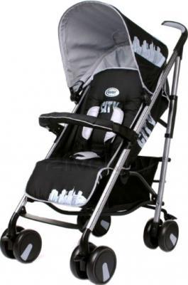 Детская прогулочная коляска 4Baby City (черный) - общий вид