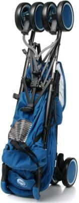 Детская прогулочная коляска 4Baby Damrey (синий) - в сложенном виде