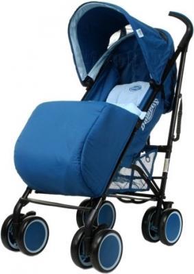 Детская прогулочная коляска 4Baby Damrey (коричневый) - чехол для ног (цвет Blue)