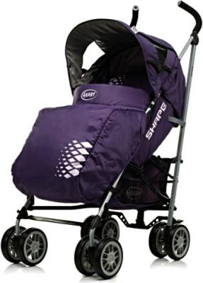 Детская прогулочная коляска 4Baby Shape (бежевый) - чехол для ног (цвет Purple)