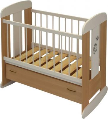 Детская кроватка Алмаз-Мебель Зайка (Бук) - общий вид