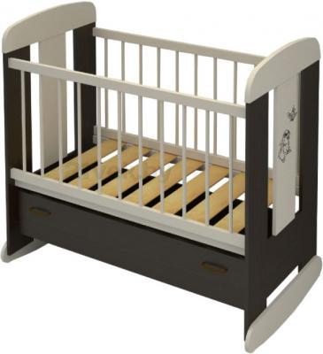 Детская кроватка Алмаз-Мебель Зайка (Венге) - общий вид