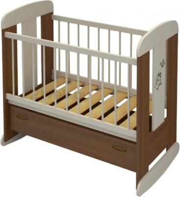 Детская кроватка Алмаз-Мебель Зайка (Орех) - общий вид