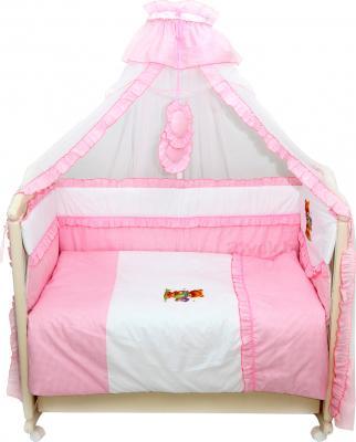 Комплект в кроватку Bombus Юленька 3 (розовый) - общий вид