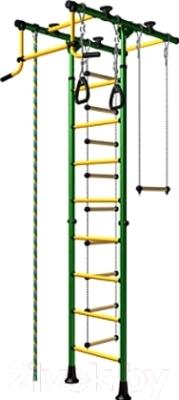 Детский спортивный комплекс Карусель Комета 1 ДСК-2-8.06.Т.490.01-08 (зеленый/желтый)