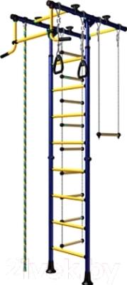 Детский спортивный комплекс Карусель Комета 1 ДСК-2-8.06.Т.490.01-08 (синий/желтый)