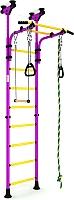 Детский спортивный комплекс Romana Комета 5 ДСКМ-2-8.06.Г1.490.01-24 (сиреневый/желтый) -