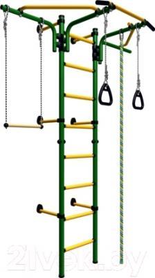 Детский спортивный комплекс Romana Комета Next 2 ДСКМ-2C-8.06.T1.490.01-24 (зеленый/желтый)