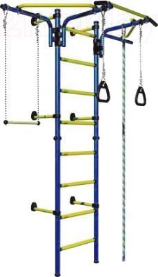 Детский спортивный комплекс Romana Комета Next 2 ДСКМ-2C-8.06.T1.490.01-24 (синий/желтый) - общий вид