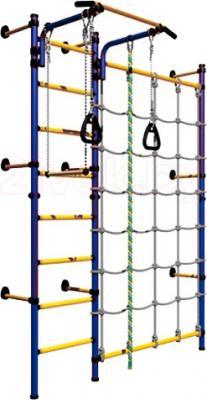 Детский спортивный комплекс Romana Комета Next 3 ДСКМ-3C-8.06.Г1.490.01-28 (синий/желтый) - общий вид