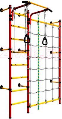 Детский спортивный комплекс Romana Комета Next 3 ДСКМ-3C-8.06.Г1.490.01-28 (красный/желтый) - общий вид