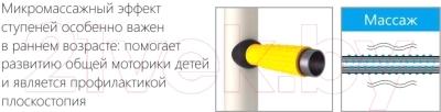 Детский спортивный комплекс Romana Комета Next 3 ДСКМ-3C-8.06.Г1.490.01-28 (красный/желтый)