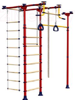 Детский спортивный комплекс Romana Меркурий 1 ДСКМ-3-8.06.Т.490.01-08 (красный/желтый) - общий вид