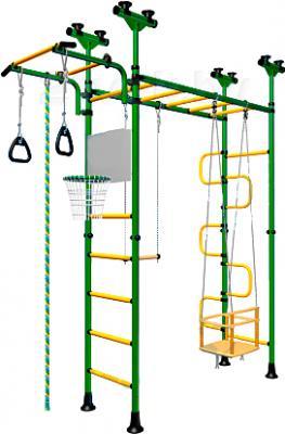 Детский спортивный комплекс Romana Пегас ДСКМ-4-8.06.Г1.490.01-31 (зеленый/желтый) - общий вид
