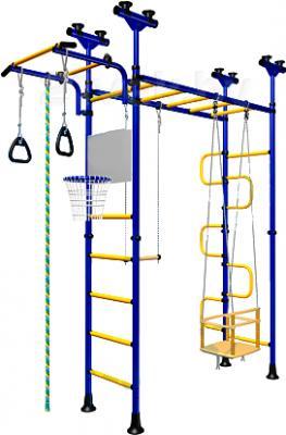 Детский спортивный комплекс Romana Пегас ДСКМ-4-8.06.Г1.490.01-31 (синий/желтый) - общий вид
