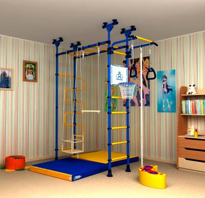 Детский спортивный комплекс Romana Пегас ДСКМ-4-8.06.Г1.490.01-31 (синий/желтый) - в интерьере