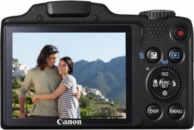 Компактный фотоаппарат Canon PowerShot SX510 HS (черный) - вид сзади