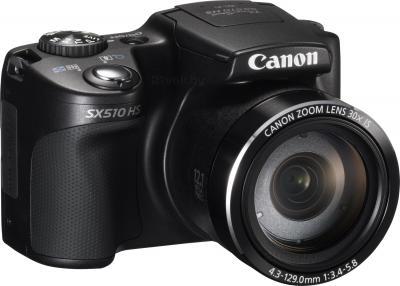 Компактный фотоаппарат Canon PowerShot SX510 HS (черный) - общий вид