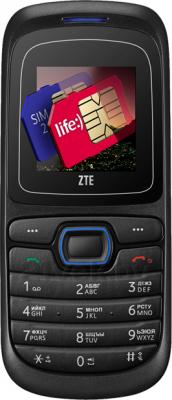 Мобильный телефон ZTE S519 (Черно-красный.) - общий вид