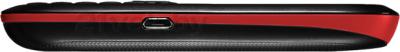 Мобильный телефон ZTE S519 (Черно-красный.) - боковая панель