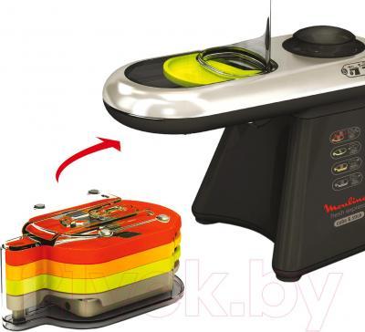 Овощерезка электрическая Moulinex DJ900830 - хранение насадок