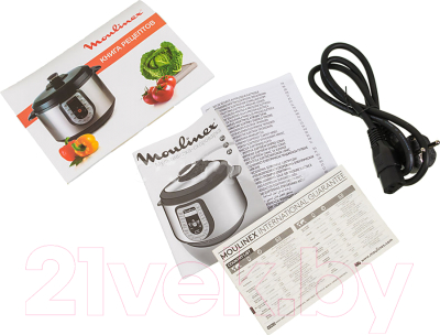 Мультиварка-скороварка Moulinex CE500E32 - документы и кабель