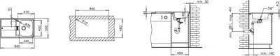 Мойка кухонная Teka Stena 45 B-CN - схема монтажа