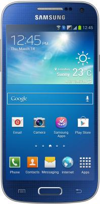 Смартфон Samsung Galaxy S4 mini Dual / I9192 (синий) - общий вид