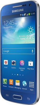 Смартфон Samsung Galaxy S4 mini Dual / I9192 (синий) - полубоком