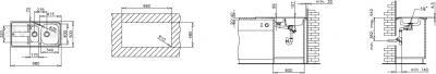 Мойка кухонная Teka Stena 60 B-MTX - схема монтажа