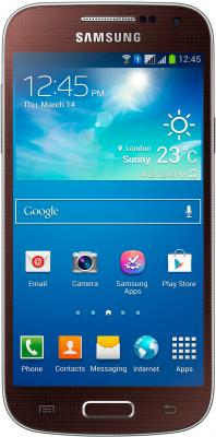 Смартфон Samsung Galaxy S4 mini Dual / I9192 (коричневый) - общий вид