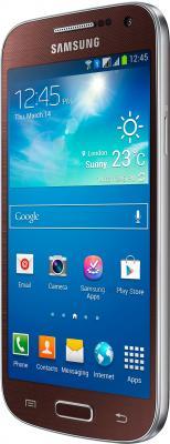 Смартфон Samsung Galaxy S4 mini Dual / I9192 (коричневый) - полубоком