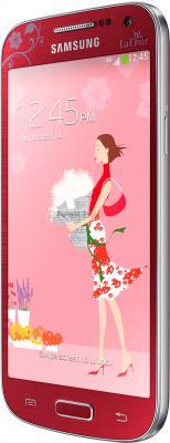 Смартфон Samsung Galaxy S4 mini Duos La Fleur / I9192 (красный) - полубоком