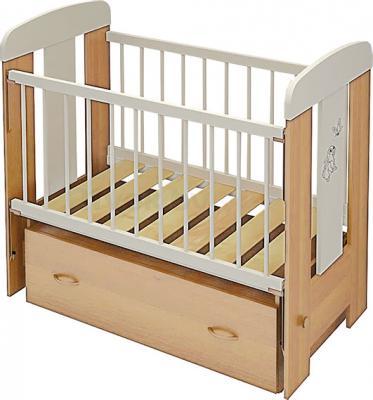Детская кроватка Алмаз-Мебель Зайка-2 маятник (Бук) - общий вид