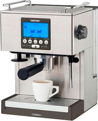 Кофеварка эспрессо Zelmer 13Z018 (Metallic) - общий вид